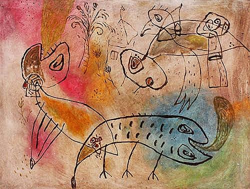 Alfi, Jumaldi (b. Lintau, W. Sumatra, 1973) My Adventure Pets