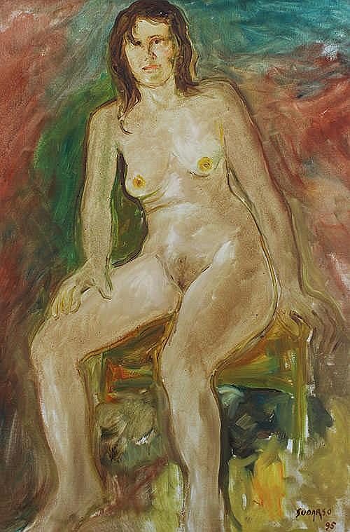 Sudarso (Purwokerto, C. Java, 1914 - Purwakarta , W. Java, 2006) Nude