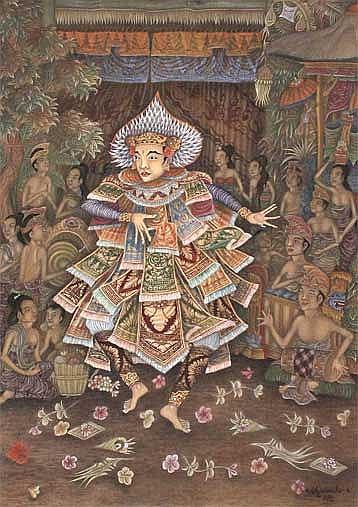 Wiantika, Nengah Tari Baris acrylics on canvas 90