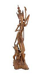 Anonymous Figure wood h. 150 cm