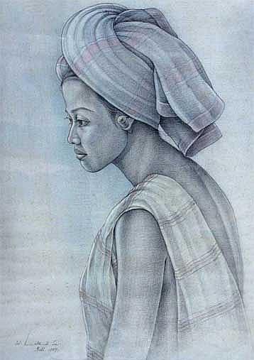 Lotra, I Wayan (b. Bali) WAnita Bali 2 1989 pastel