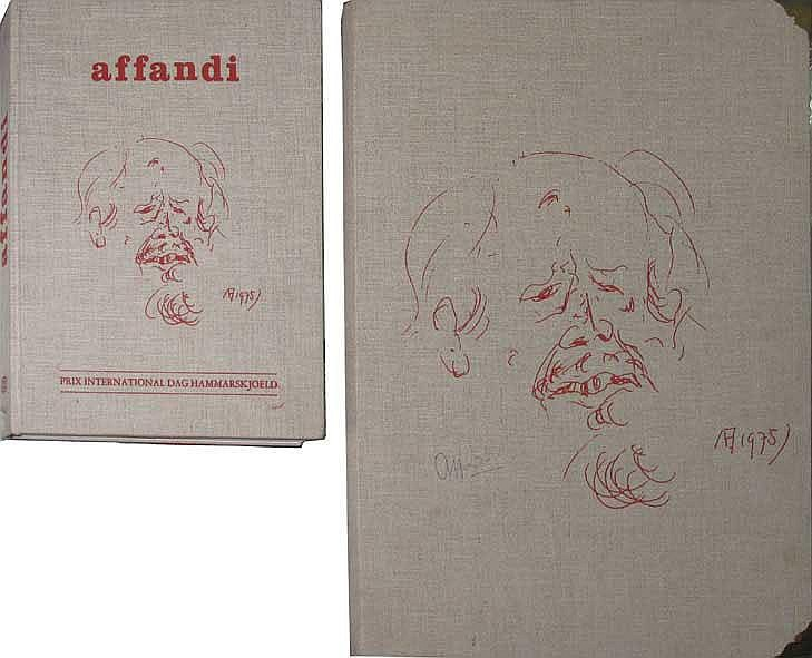 Prix International Dag Harmmarskjoeld Book Commemorating the Awarding of theDag Harmmerskjoeld Prize to Affandi