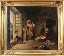 ITALIAN SCHOOL ca. 1835 Genre scene with people