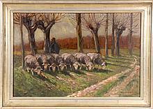 HERDTLE, RICHARD Stuttgart 1866 - 1943 Shepherd