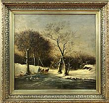 GOERZ, L.W. (?) German painter ca. 1900 Snowy