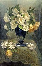 DALLWITZ, OTTILIE VON Wiesbaden 1882 - 1952 White roses