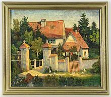 EBERHARDT, HEINRICH Original title: ''Vorhaus von Schloss Brenz''.