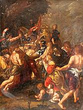 FLEMISH SCHOOL, 17th century Christ carrying the
