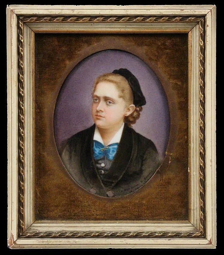 ADOLPHE COUVLELET France ca. 1805 - 1867 Portrait