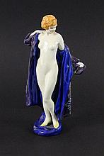 A BATHING WOMAN Royal Doulton Colourfully painted