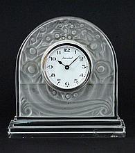 A BACCARAT DESK CLOCK 20th/21st century Matt