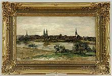 MERKER, MAX 1861 - 1928 View of Luebeck.