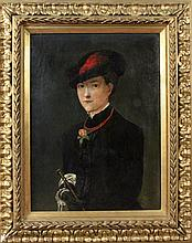 (Attributed to) MERCIER, VICTOR Paris 1833 - ? Elegant lady