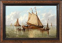 MOYEZ, A. (?) French painter, 19thcentury Sailing