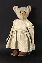 AN OLD TEDDY BEAR ca. 1910 Light-coloured
