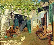 GAMEZ, DIEGO Spanish painter, 20th century Arab souk