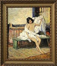 AN IMPRESSIONIST France ca. 1900. After bathing