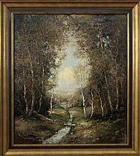 BAUER, WILLI Aschaffenburg 1923 Forest landscape