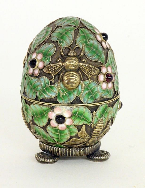 a cloisonne egg 20th century relief decor with. Black Bedroom Furniture Sets. Home Design Ideas