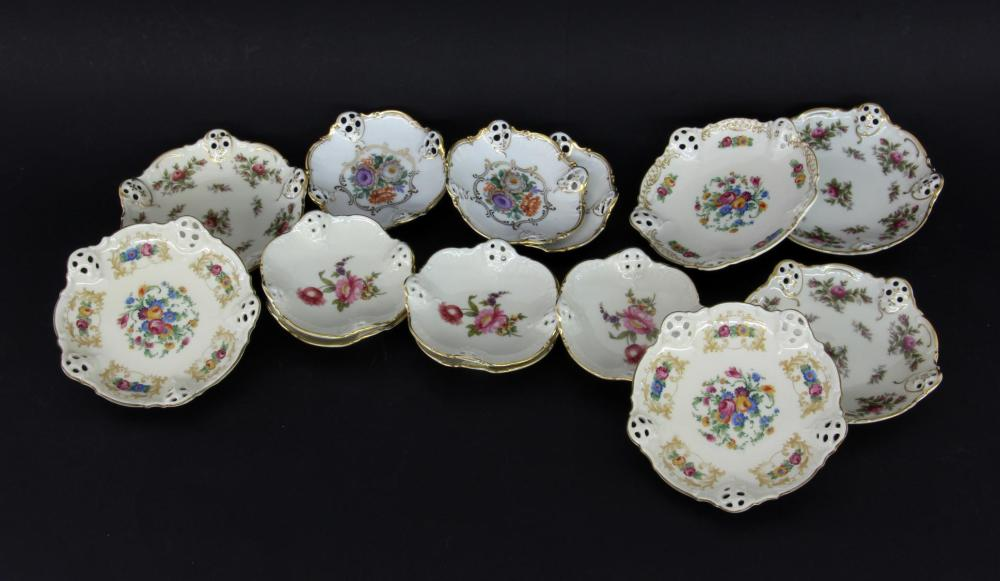 A MIXED LOT OF 14 BOWLS Rosenthal Ivory porcelain