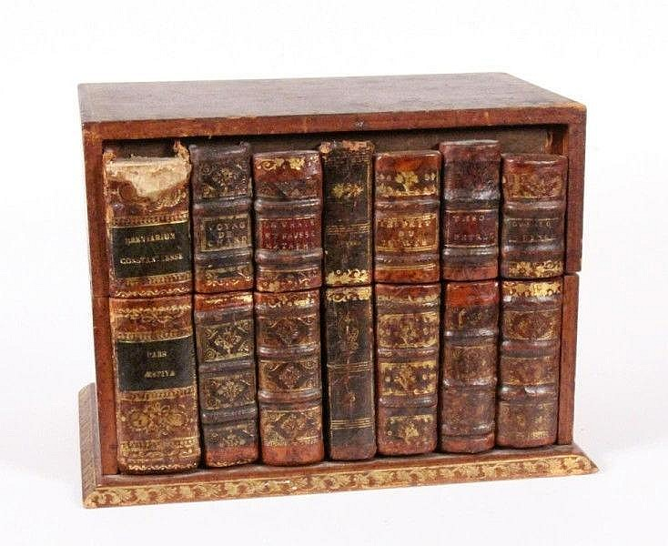 A LETTER BOX in form of old books. Wood with