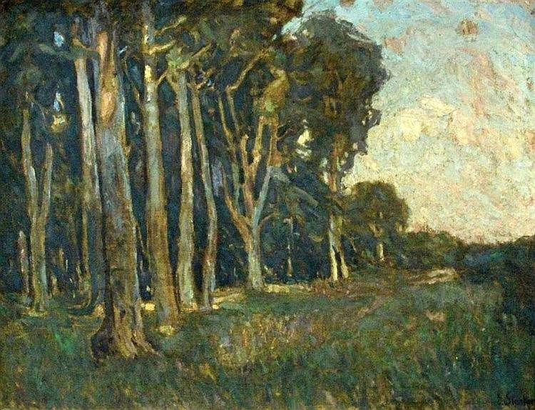 STARKER, ERWIN Stuttgart 1878 - 1932 Sunset at