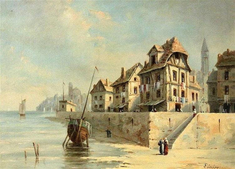 SINIER French painter, end of 19th century