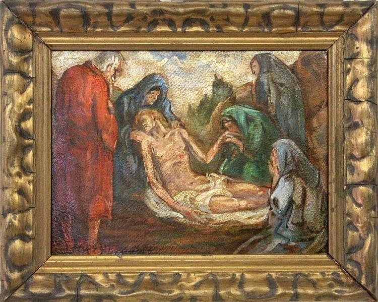 BANDINI, M. Italian painter, 20th century Burial
