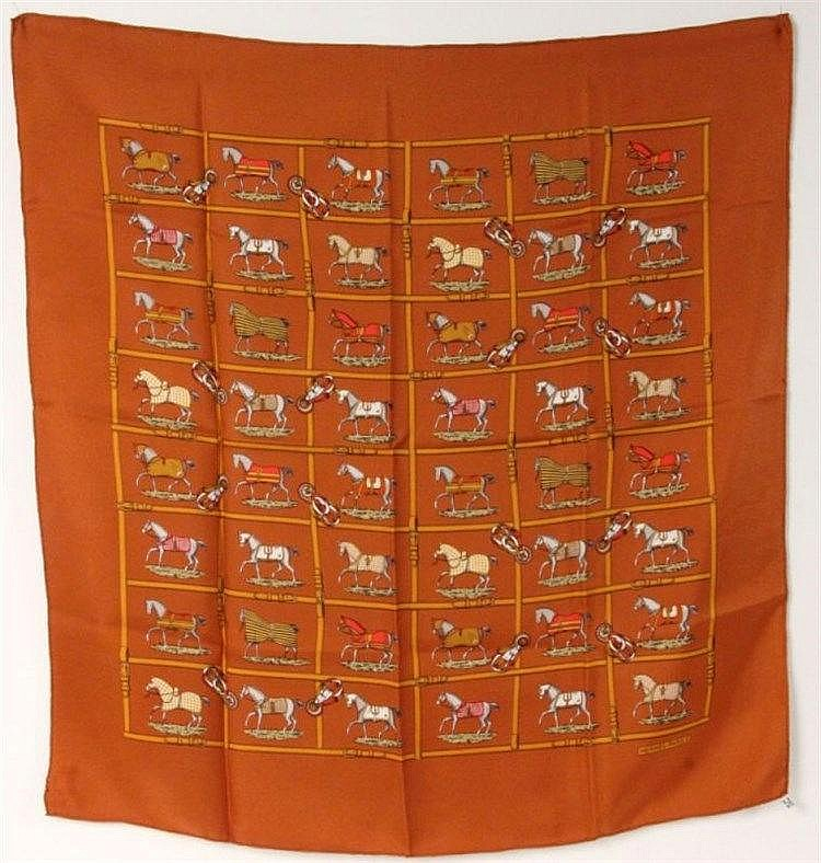 AN HERMES SQUARE (CARRE) SCARF