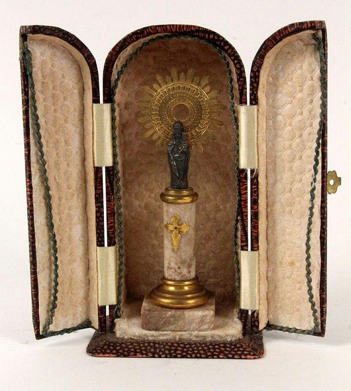 A MINIATURE OF MADONNA France ca. 1900 Silver
