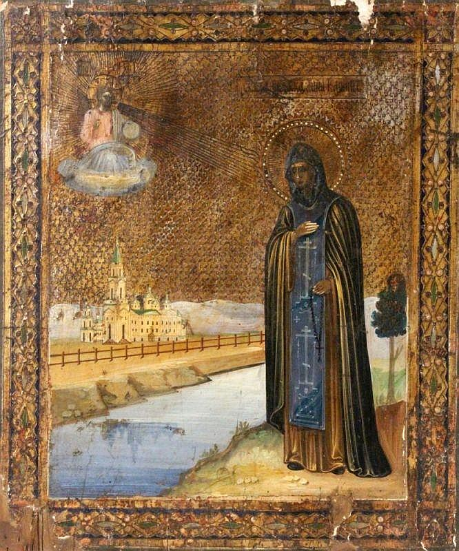 SAINT ANNA OF KASHIN Russian icon ca 1900. Full