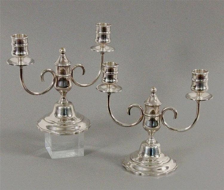 A PAIR OF CHRISTOFLE CANDLESTICKS