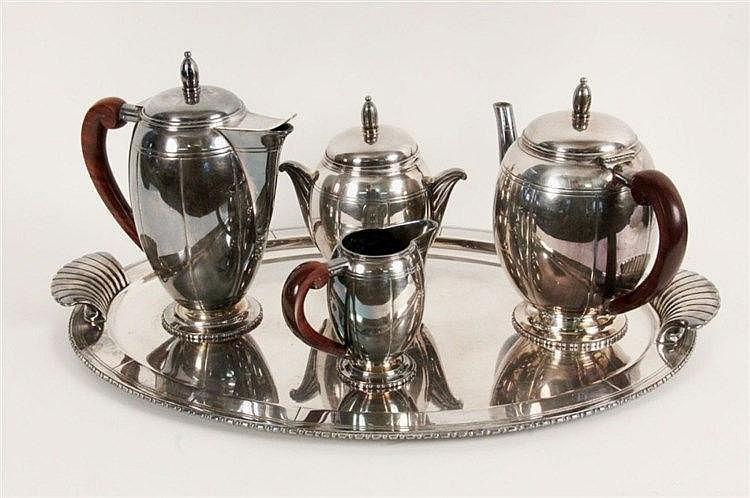 AN ART DECO TEA AND COFFEE SERVICE