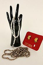 THREE FASHION JEWELLERY ITEMS 2 necklaces and a