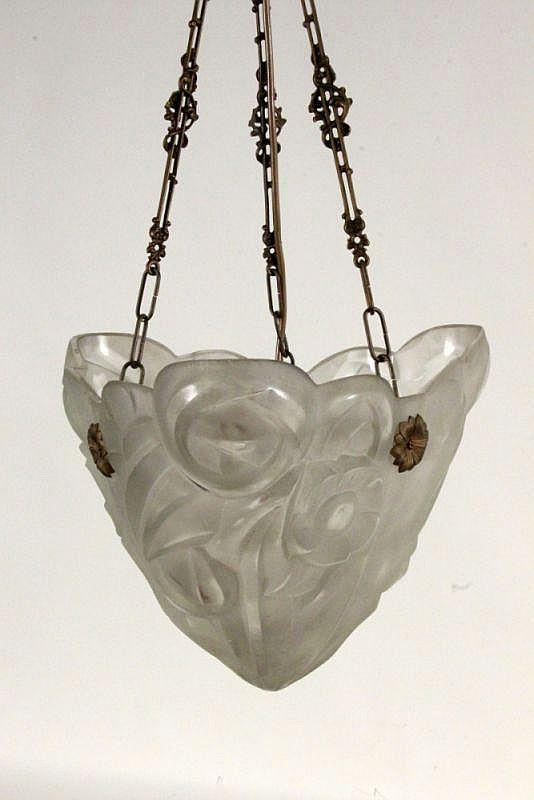 AN ART DECO HANGING LAMP