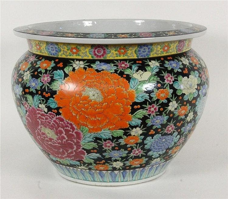 A FISHBOWL China Porcelain with polychrome
