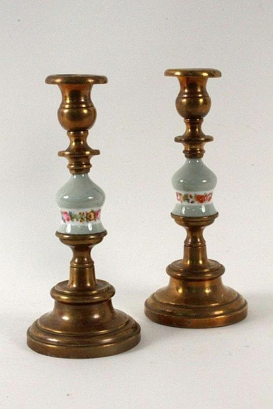 A PAIR OF CANDLESTICKS ca. 1900 Baroque style