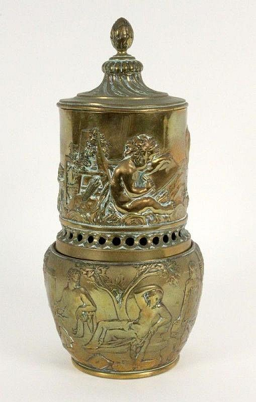 A SCENT VESSEL ca. 1900 Bronze with