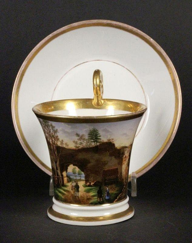 A BIEDERMEIER PORTRAIT CUP Nymphenburg ca. 1835