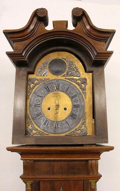 A BARQUE LONGCASE CLOCK 1776 Walnut cased