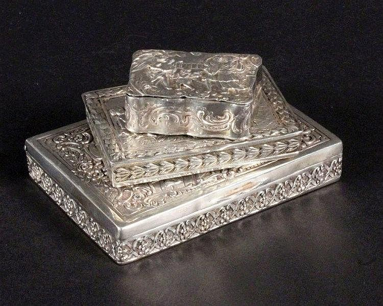 A LOT OF 3 SNUFF BOXES German ca. 1910 Silver