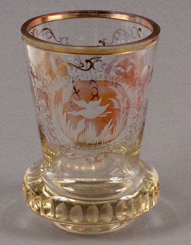 A BEAKER (Ranftbecher) 20th century Colourless