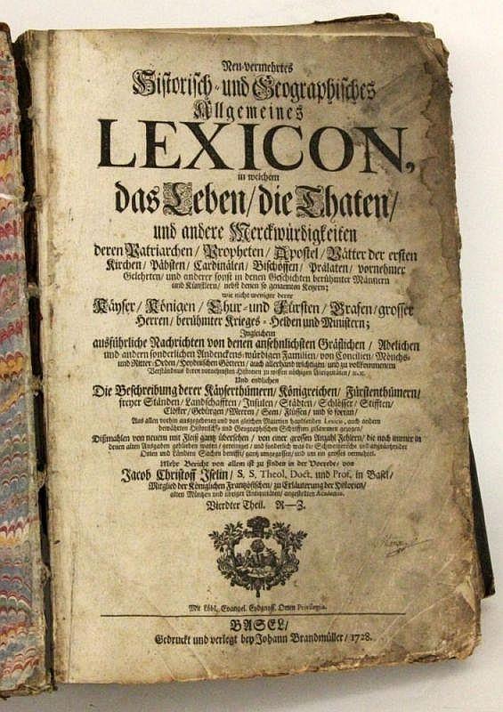 GERMAN LEXICON \HISTORISCH UND GEOGRAPHISCH