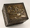 A BOX Belgium ca. 1900 Wooden box with brass and