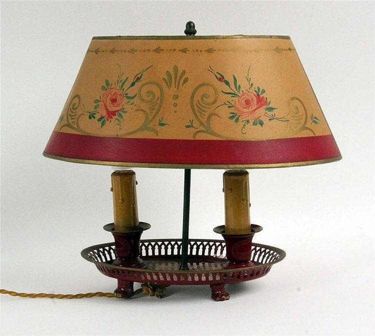A TABLE LAMP IN BIEDERMEIER STYLE