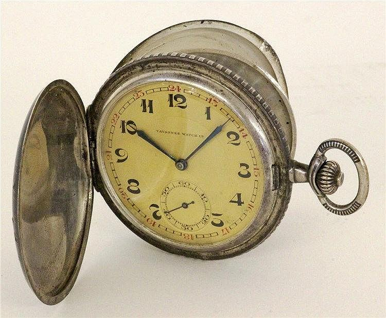 A HUNTER CASED POCKET WATCH Tavannes Watch Co.