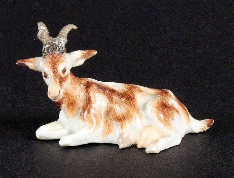 A MINIATURE FIGURE ''ZIEGE'' (goat) Meissen ca