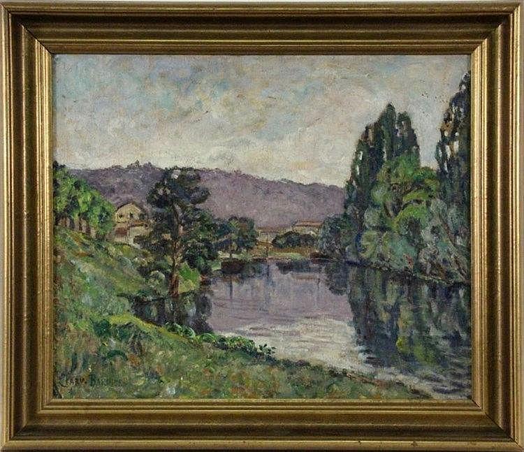 CLARY-BAROUX, ADOLPHE Paris 1865 - 1933 River