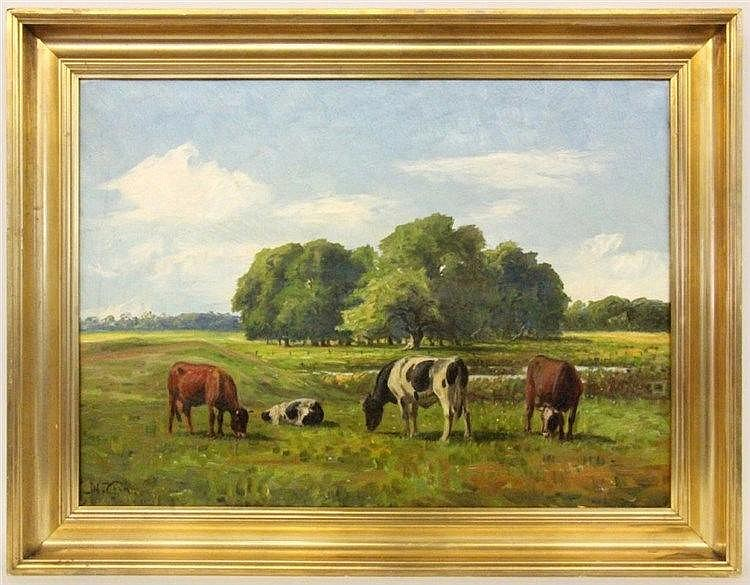 CHRISTIANSEN, NIELS Eskebjerg 1873 - 1960 Cows on