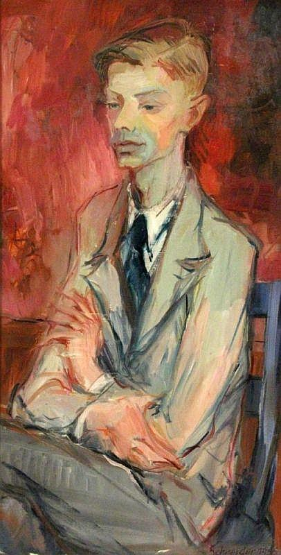 SCHNEIDER German painter, 20th century Portrait